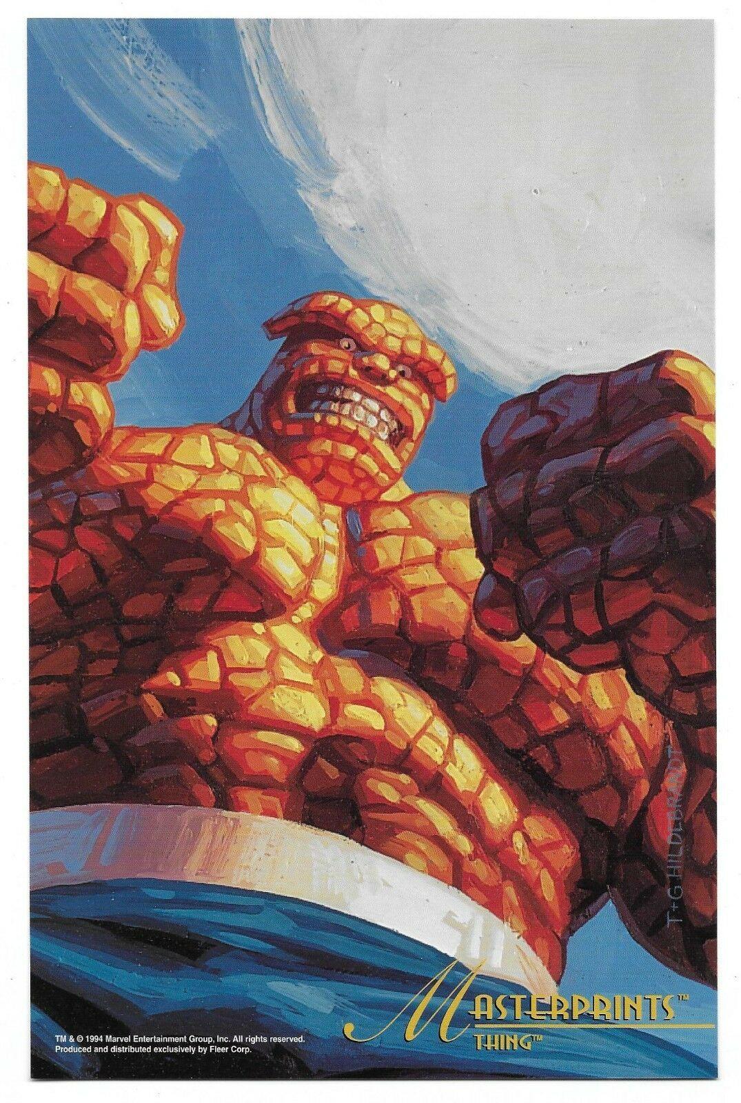 1994 Fleer Marvel Thing MasterPrints Card