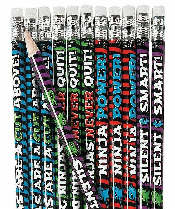"Learning Ninja Pencils (24 Pack) 7 1/2"". Wood."