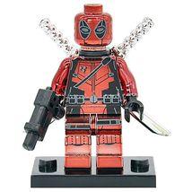 Deadpool Chrom Shiny Bricks collectible Marvel Building blocks - $5.99