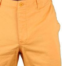 Hawke & Dumar Tab Detail Twill Rustic Orange Walk Summer Shorts HD1250503 NWT image 3
