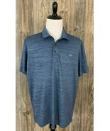 "Greg Norman ""Attack Life"" Golf Polo Men's 2XL Play-Dry Heather Blue Poly... - $17.81"