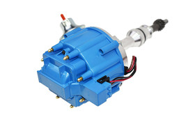 SBF Ford Small Block 351W Windsor HEI Ignition Blue Cap Distributor 65K Coil image 2