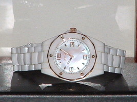Pre-Owned  Invicta 10259 White Ceramic Mother of Pearl Sport Analog Quartz Watch - $58.41