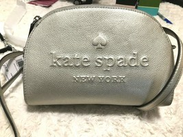 Kate Spade Larchmont Avenue Logo Tori Crossbody Bag Light Metallic Silver $229 - $79.19