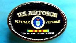 Vietnam Veteran U.S. Air Force Epoxy Belt Buckle - New - $16.78