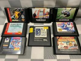 Posten von 8 Sega Genesis Sports Videospiel Patrone Golf Olympiade Fußball - $16.66