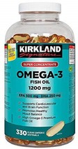 Kirkland Signature Super Concentrate Omega-3 Fish Oil 1200mg, EPA 500 - $133.67