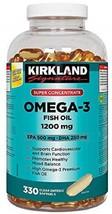 Kirkland Signature Super Concentrate Omega-3 Fish Oil 1200mg, EPA 500 - $177.59