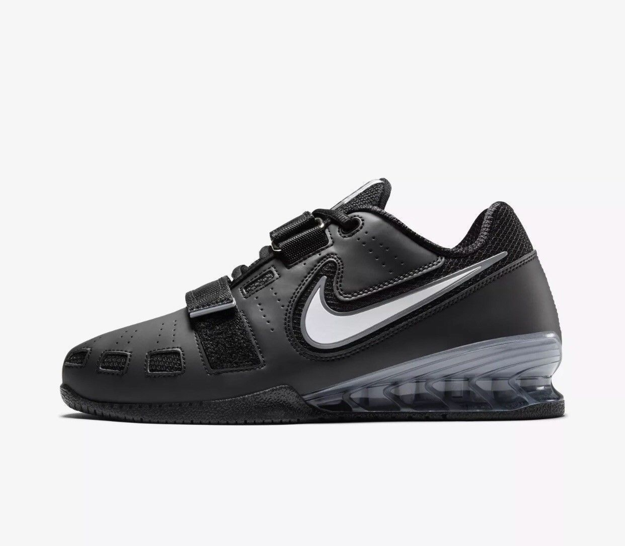 half off a1ac2 a6c85 Nike Romaleos 2 BLACK WHITE Weightlifting and 50 similar items