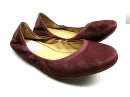 Cole Hann Burgundy Calf Hair Ballet Flats Womens Size  71/2 B - $18.81