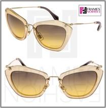 MIU MIU NOIR 10N Gold Yellow Glitter Pink Geometric Gradient Sunglasses ... - $267.30