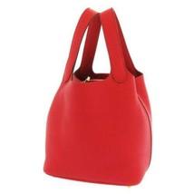 HERMES Picotin Lock PM Taurillon Clemence Rouge Casaque Handbag #C France - $3,535.80