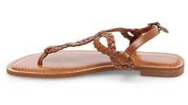 New Women's Merona Jana Quarter Strap Flat Strappy Sandals in Cognac NWT image 3