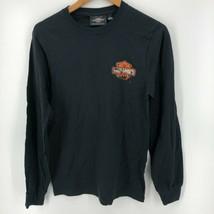 Harley Davidson Long Sleeve T-Shirt Men's S Black Double Sided Classic Logo - £10.79 GBP