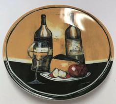 "Gourmet Basics Mikasa Sip & Slice Jennifer Garant Wine & Cheese Plate 8.5"" - $9.89"