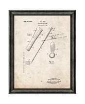 Grip for Golf Clubs Patent Print Old Look with Black Wood Frame - $24.95+