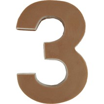 Philadelphia Candies Solid Milk Chocolate Number 3 (Three), 1.75 Ounce Gift - $9.85