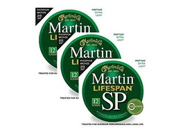 Martin MSP7600 SP Lifespan 92/8 Phosphor Bronze Acoustic String, Extra L... - $62.93