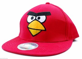 CONCEPT ONE ANGRY BIRDS VIDEO GAME SNAP BACK FLAT BILL CAP/HAT - RED - OSFM - $20.85