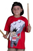 Famous Stars & Straps Block Man Travis Barker Drummer Boys Youth T-Shirt image 8