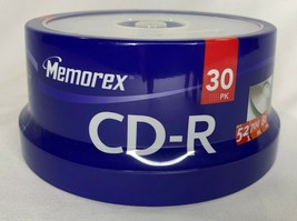 Brand New- Memorex Music CD-R DA  80 Minute 700 MB 52x 30-Pack Spindle -... - $15.83