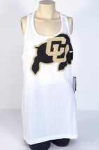 Nike Slim Fit Colorado University CU Buffs White Racer Back Tank Womans NWT - $26.24