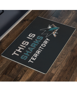 San Jose Sharks Black Welcome Mat Entryway Rug Hockey Doormat Housewarmi... - $40.00