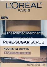 Loreal Pure Sugar Scrub Nourish Soften Pure Sugars + Cocoa 1.7 oz 11/202... - $6.95