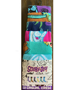Scooby Doo Shaggy 6 Pk Adult Crew Socks Shoe Sz 8-12 Age 14+ Batman Flash + - $27.71