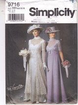 Victorian Wedding Costume Cosplay Titanic Gown Simplicity Pattern 9716 S... - $29.69