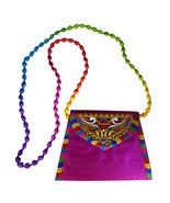 Zonnie Jaya Indian Embroidered Small Purse Purple - $20.28