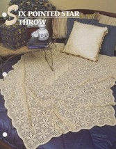 Six Pointed Star Throw, Annie's Crochet Quilt & Afghan Pattern Leaflet 3... - $2.95