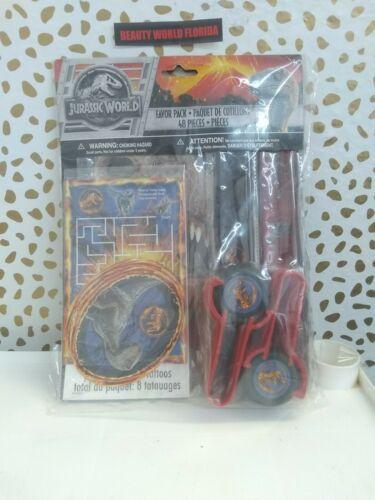 JURASSIC WORLD Fallen Kingdom FAVOR PACK (48pc) ~ Birthday Party Supplies Toys
