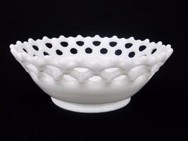 "Vintage Westmoreland Fruit Bowl Doric Lace Design 3"" Tall x 8.5"" Wide  - $14.65"