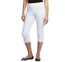 Women with Control Contour Waist Pull-On Capri Pants Color White Petite ... - $10.80