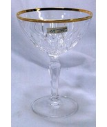 Lavorazione A Mano Crystal Pineapple Cut Champagne Glass New With Tag - $8.18
