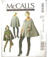 Misses Generation Next Capes Sewing Pattern Sizes 12-20 McCall's 6446 UNCUT - $7.99