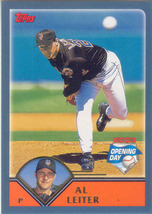 Al Leiter ~ 2003 Topps Opening Day #117 ~ Mets - $0.20