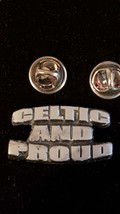 celtic and proud  double pin badge lapel Badge / tie pin, Lapel Pin Badge, boxed