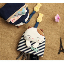 Mini Zipper Pouch Coin Card Purses Cute Rabbit Cat Wallet Bag with Keych... - $22.80