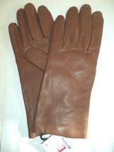 Ladies Grandoe 100% Cashmere Lined Genuine Leather Gloves,Medium, Brown - $45.94