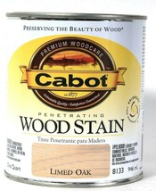 1 Can Cabot 32 Oz Penetrating Wood Stain 8133 Limed Oak Fade Resistant F... - $19.99