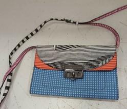 Marc by Marc Jacobs Lip Lock Optical Stripe Crossbody Bag - $128.70