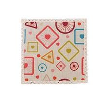Panda Superstore 4 Pieces Simple Creative Anti-Scald Cotton&Linen Coasters - $15.39