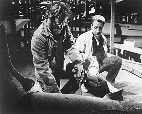 Jaws B&W Richard Dreyfuss Cutting Shark 16x20 Canvas Giclee - $69.99