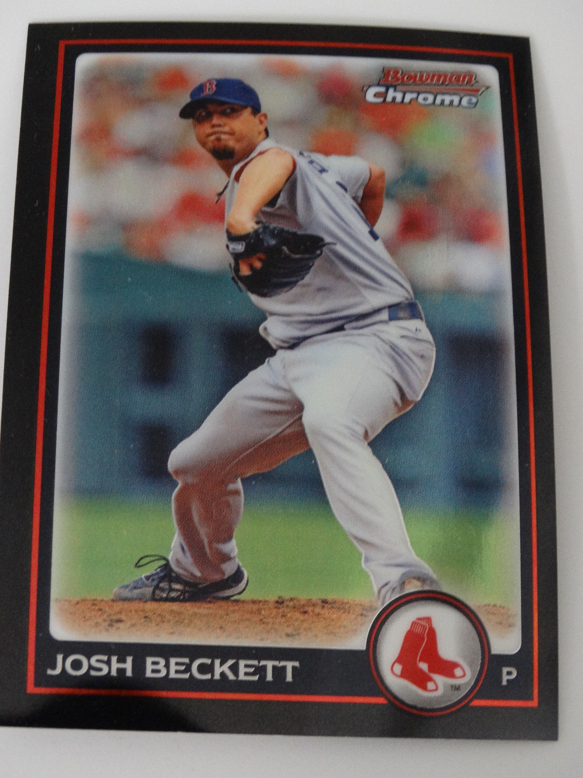 Primary image for 2010 Bowman Chrome #7 Josh Beckett Boston Red Sox Baseball Card