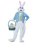 Easter Bunny Costume Adult Size Large XL Plush Rabbit Suit Bow Tie Blue ... - $123.70