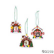 Gingerbread House Photo Ornaments, 12 Count - $24.99