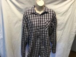 Alfani Womens Button Up Shirt Top Modern Fit Sz M 100% Cotton - $9.92