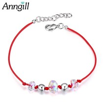 Brand Design Red String Bracelet For Girls Crystals from Swarovski Handm... - $21.77